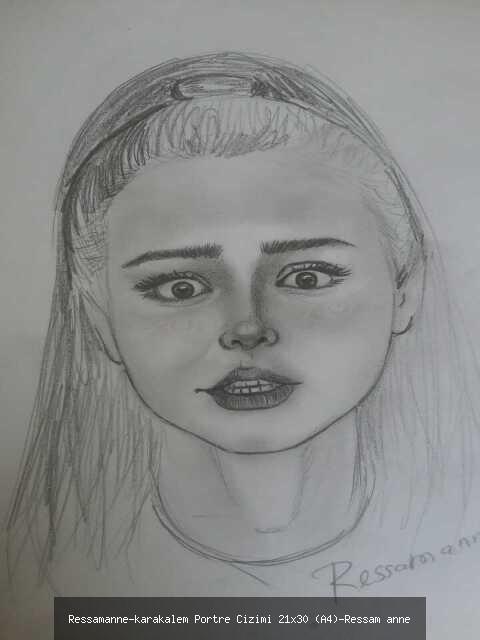 karakalem Portre Çizimi 21x30 (A4)