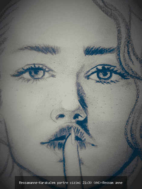 karakalem Portre Çizimi 21x30 cm (A4)